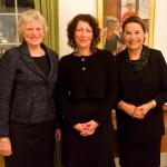 Ambassadør Inga Eriksson Fogh, Elisabeth Åsbrink og Catharina Collet