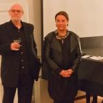 Filminstruktør Jan Troell og formand Catharina Collet