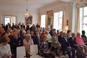 Publikum ved Dansk-Svensk Kulturfons kulturpris 2017 på Sveriges Ambassade den 11. maj 2017. Foto: Cecilia Leveaux